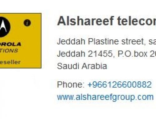 Al Shareef Telecom Golden Reseller at Motorola Solution